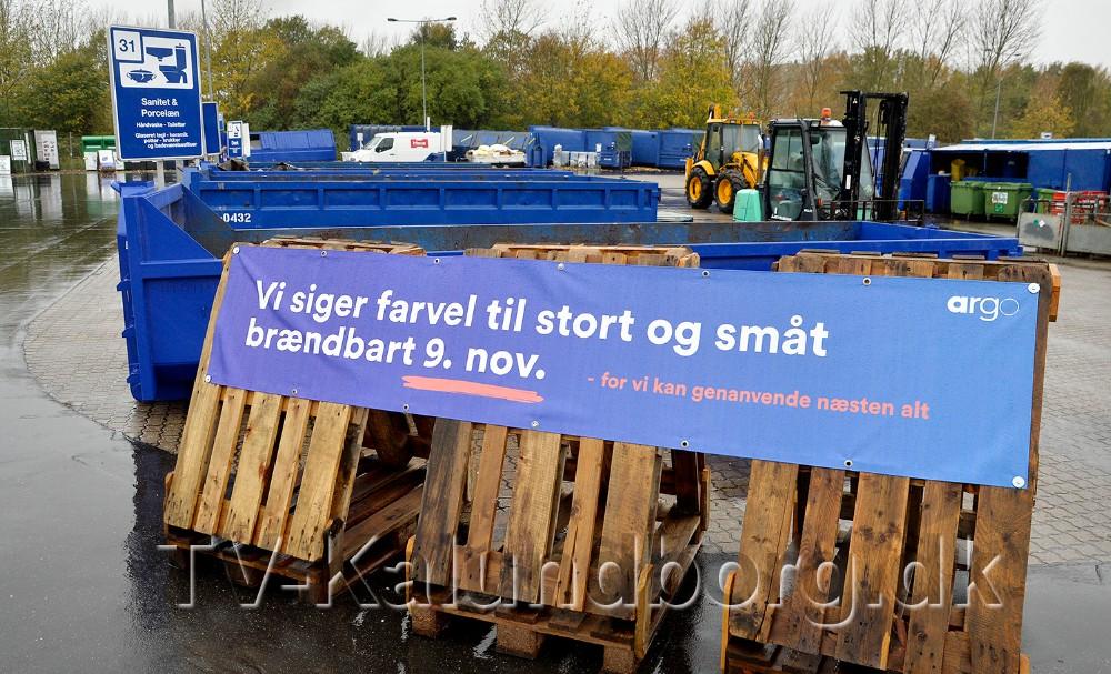 Den 9. november er det slut med småt og stort brændbart. Foto: Jens Nielsen