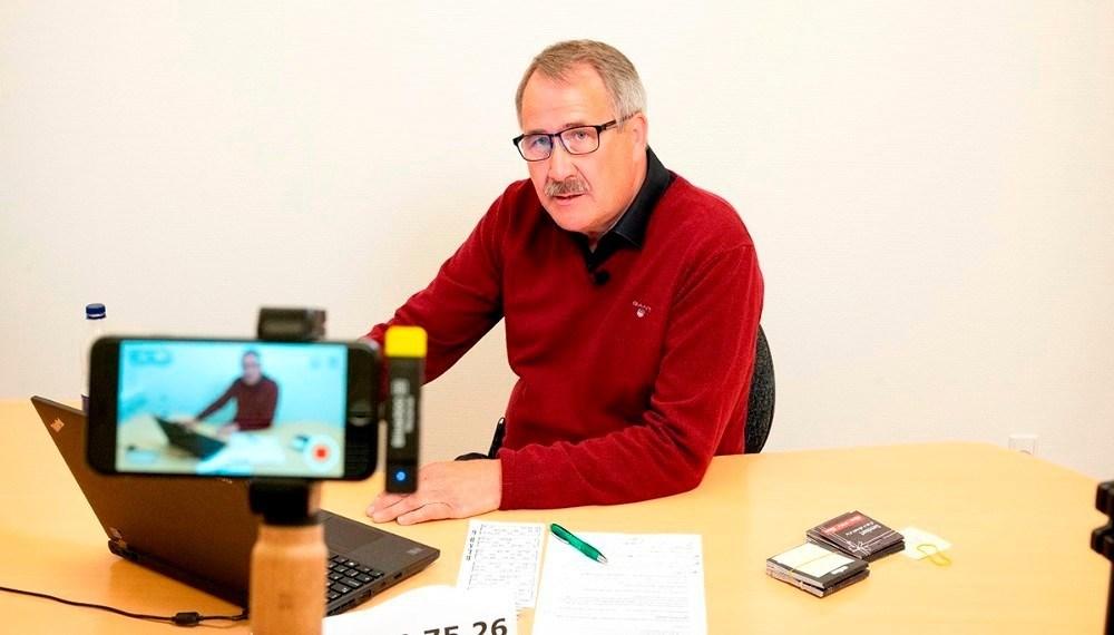 formand for H.F. Vestsjællands Venner Niels-Erik Sørensen er klar til igen at råbe bankotal op. Arkivfoto: Jens Nielsen