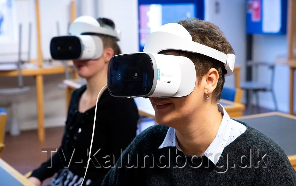 VR briller bliver måske den nye undervisningsform når medarbejdere skal lære manualer og vejledninger. Foto: Jens Nielsen