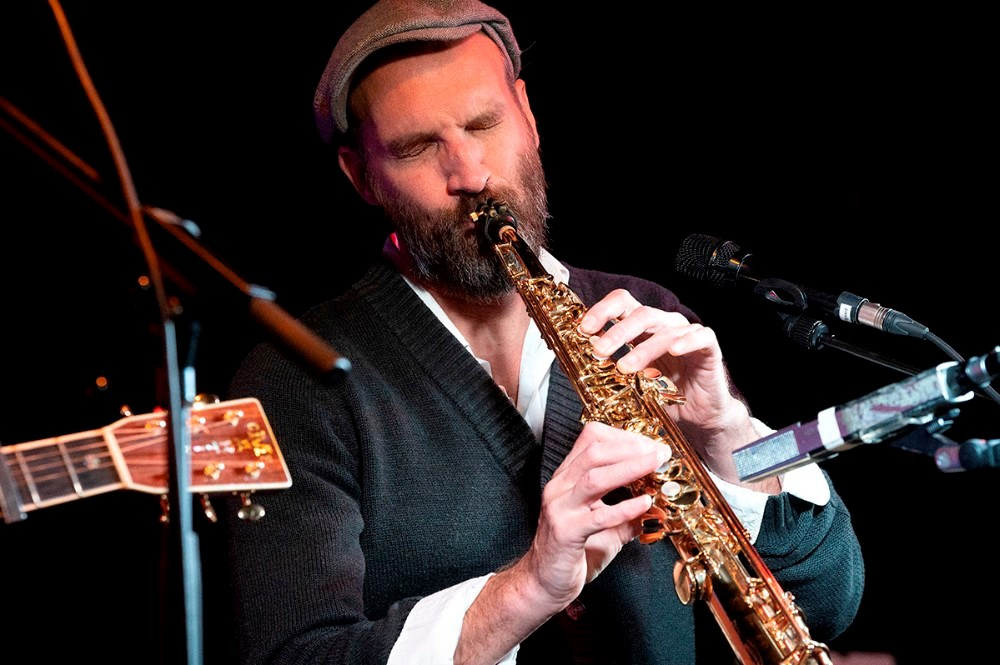 Jan Kaspersen med sin sopransaxofon. Foto: Jens Nielsen