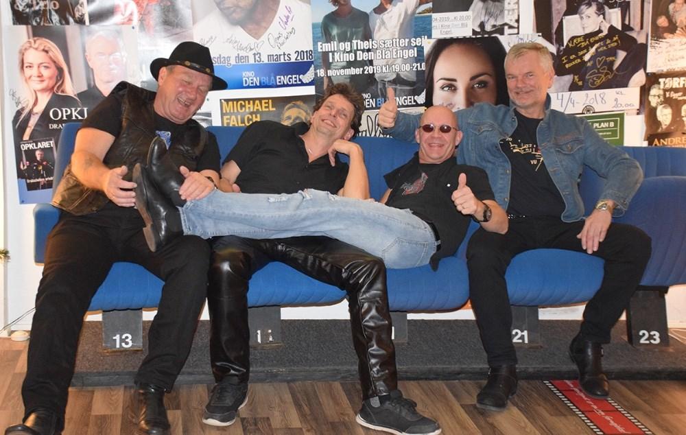 Det lokale band, Last To Know, består af: Jens Tingvad (tv), Kim Gøttsche,Mogens Gotlob ogJohn Trane. Foto: Gitte Korsgaard.