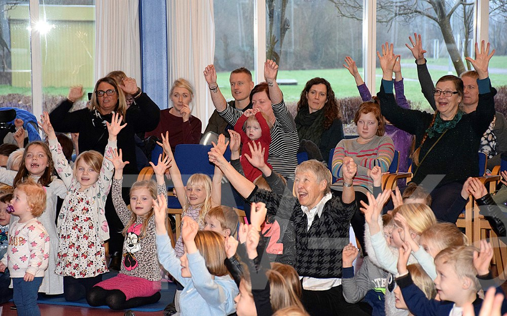 Bandet Babulja underholdte i dag på Musisk Skole Kalundborg. Foto: Gitte Korsgaard.