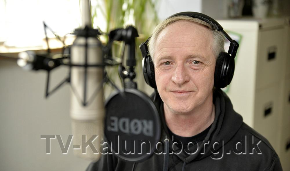 Mike Bell er bekymret for fremtiden påRadio107FM Kalundborg. Foto: Jens Nielsen
