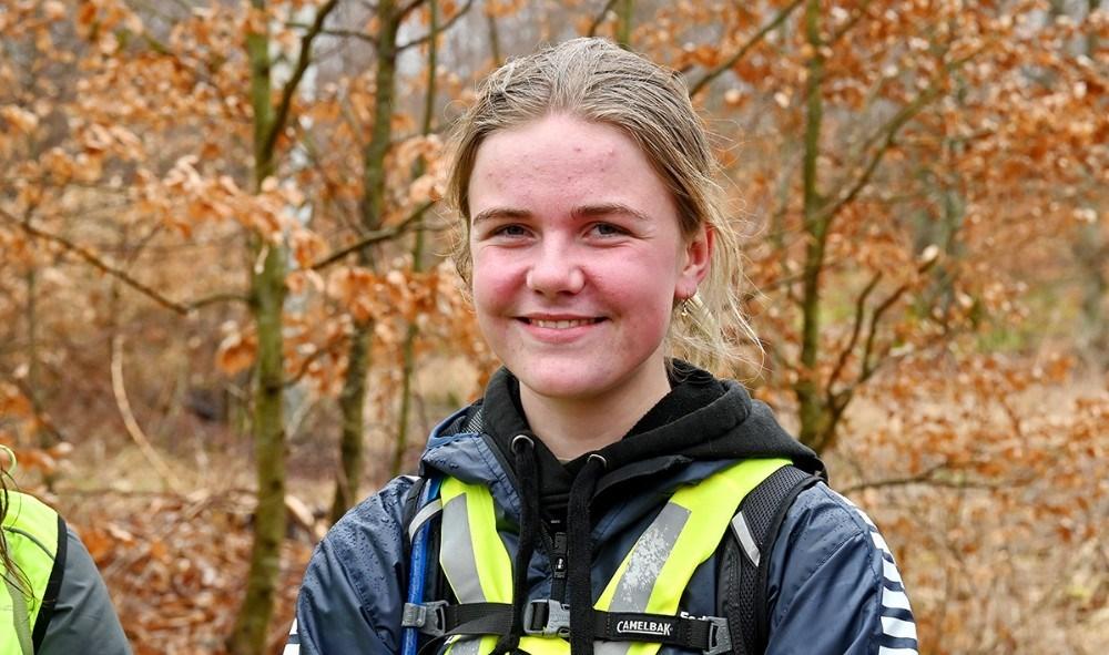 Emilie Glad valgte at gå 100 km. hjem til Kalundborg. Foto: Jens Nielsen