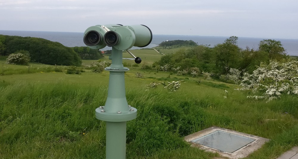 Den nye udsigtskikkert på Vågehøj. Privatfoto
