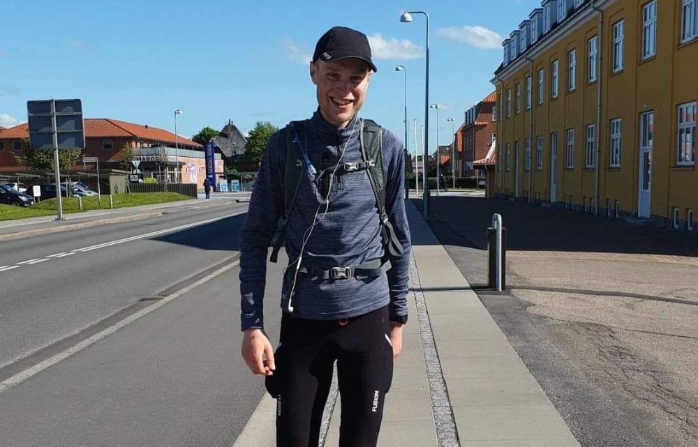 Jacob Brobæk Kiær kan nu kalde sig ultraløber. Privatfoto