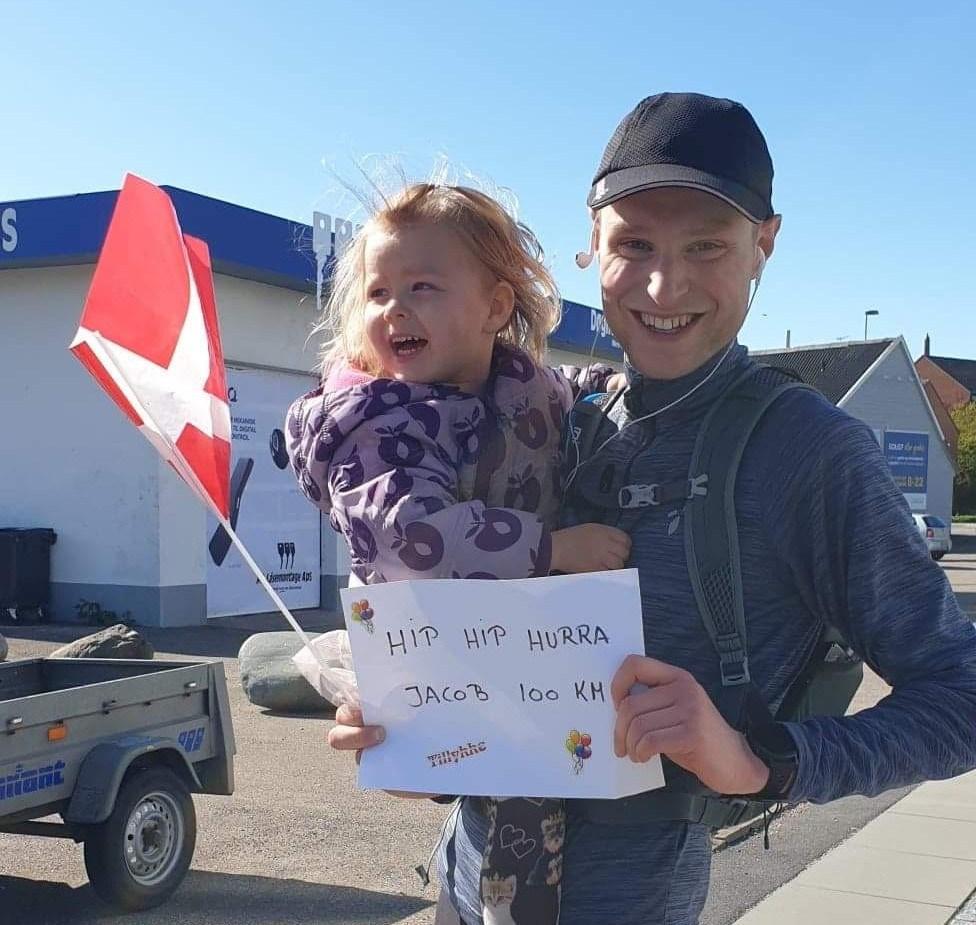 Jacob Brobæk Kiær blev modtaget af familien. Privatfoto