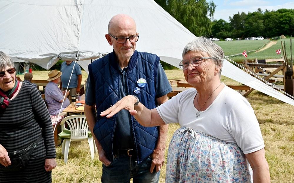James Richard og Anette Schønemann i snak om gamle dage. Foto: Jens Nielsen