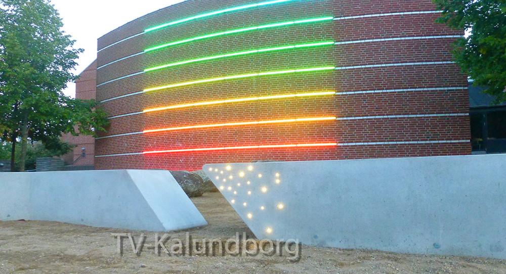 LED-lyset på Svebølle Skole.