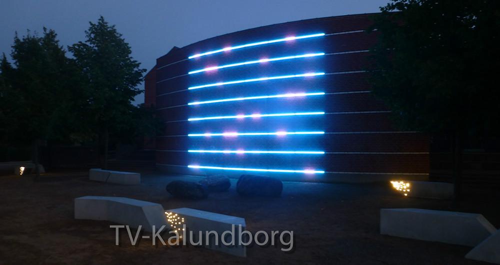 LED-lyset på Svebølle Skole..