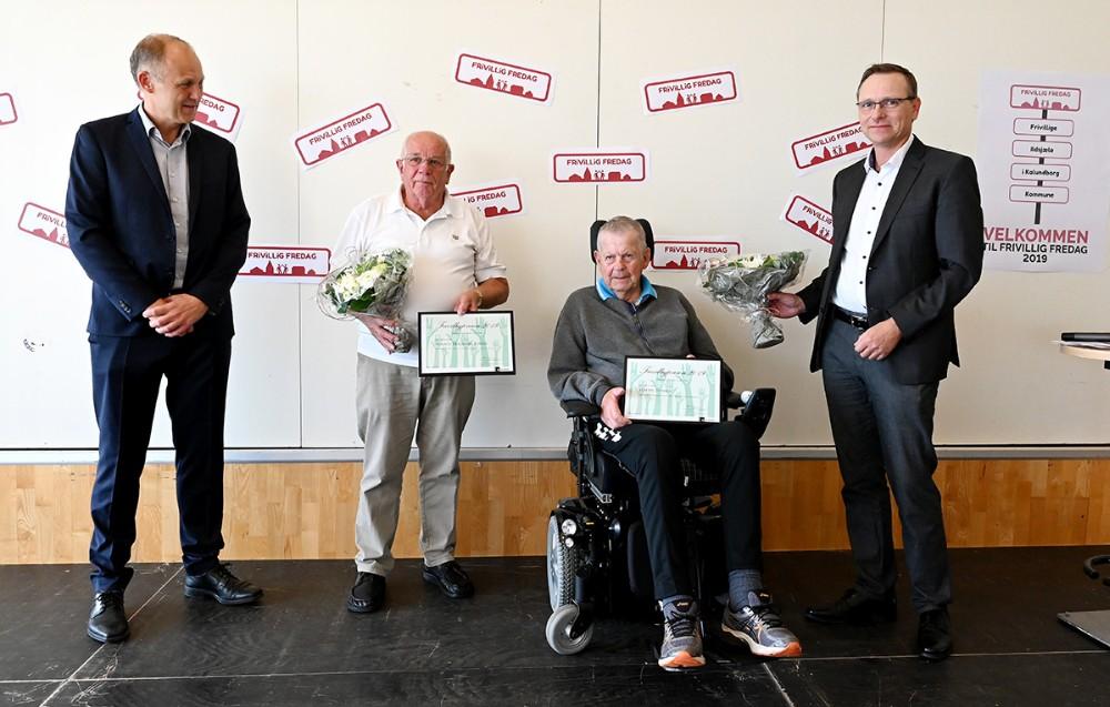 De to prisvindere, Magnus Trædmark Jensen og Martin Thyssen, sammen med Martin Damm og Peter Jacobsen. Foto: Jens Nielsen