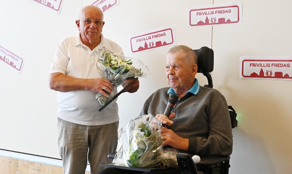 De to prisvindere, Magnus Trædmark Jensen og Martin Thyssen. Foto: Jens Nielsen
