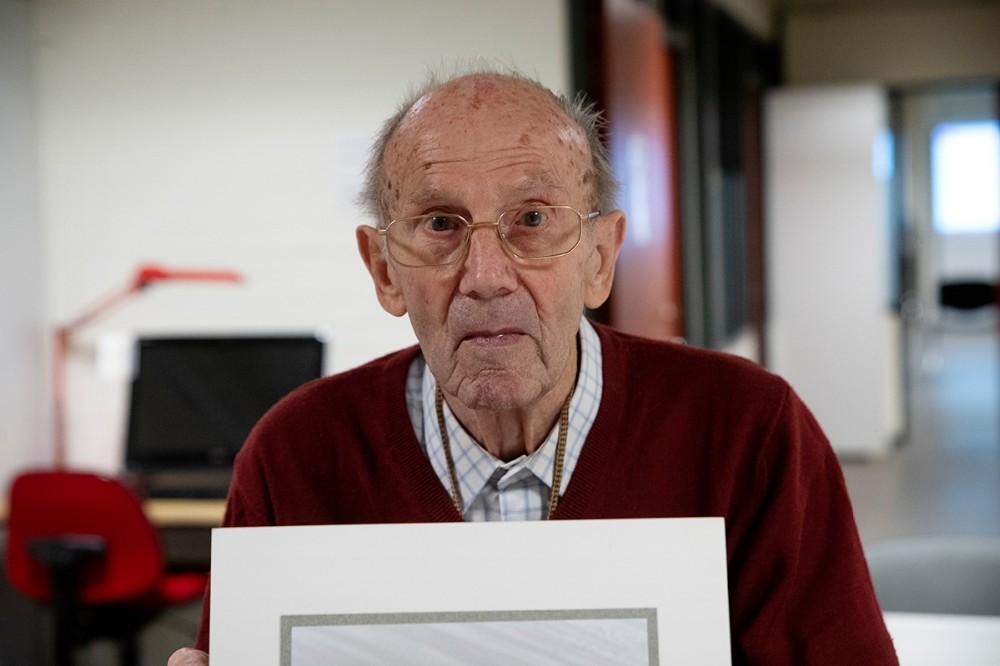 Borcher Petersen er stadig aktiv som fotograf selv om han har rundet de 95. Foto: Jens Nielsen