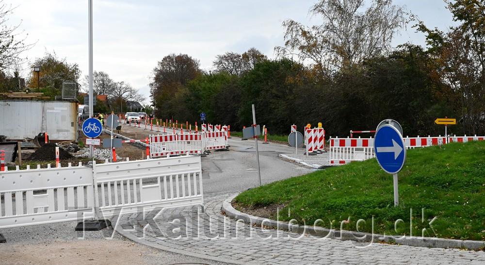 Holbækvej lukkes helt for trafik to gange i den kommende tid. Foto: Jens Nielsen
