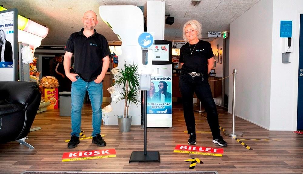 Annette Sønder Nielsen og Brian Sønder Andersen, Kino Den Blå Engel. Arkivfoto: Jens Nielsen