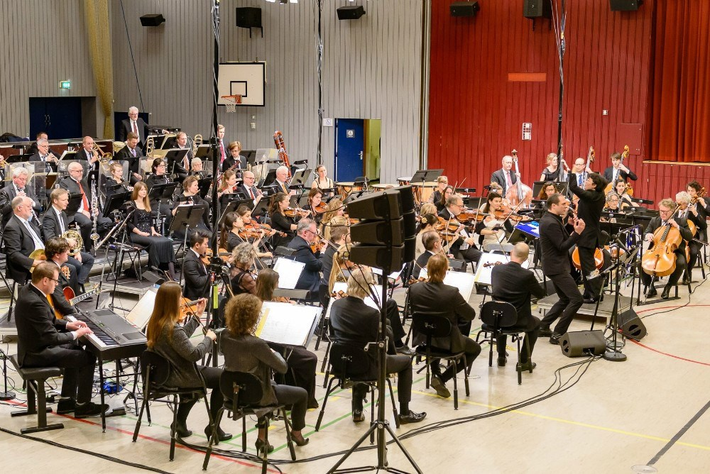 Fra Nytårskoncerten 2020 i Kalundborghallerne. Arkivfoto: Ole Agerbæk.