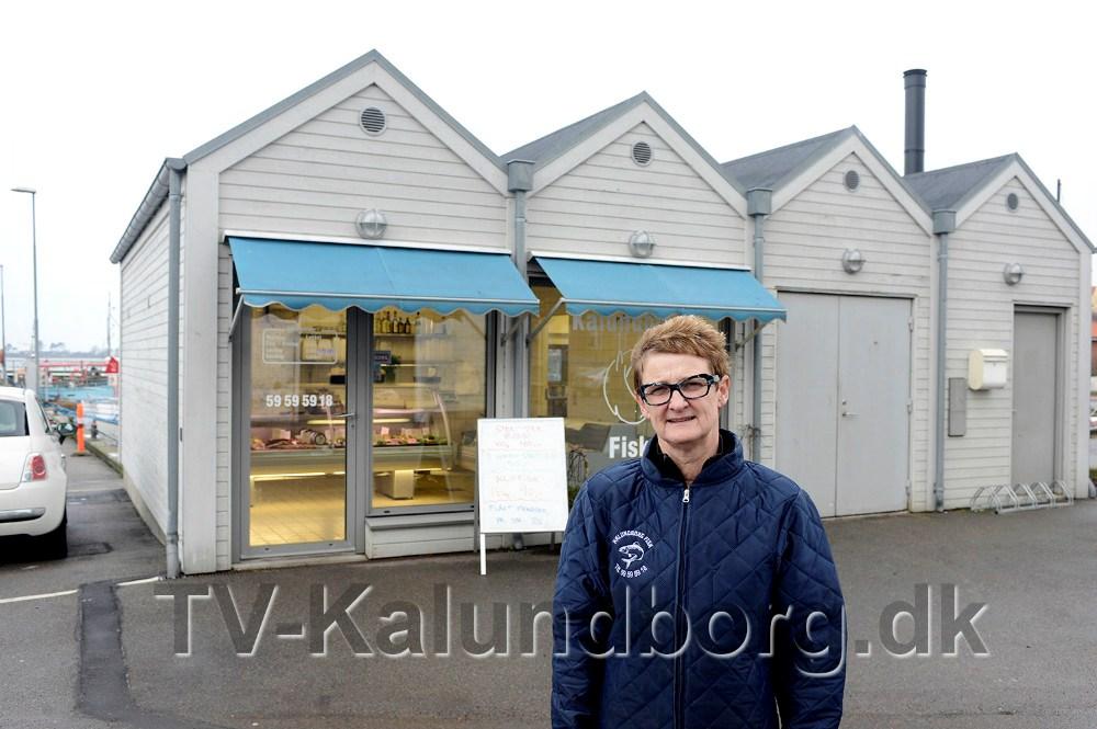 Susanne Kjærulff, Kalundborg Fisk, mangler information omkring afspærring af vejen. Foto Jens Nielsen