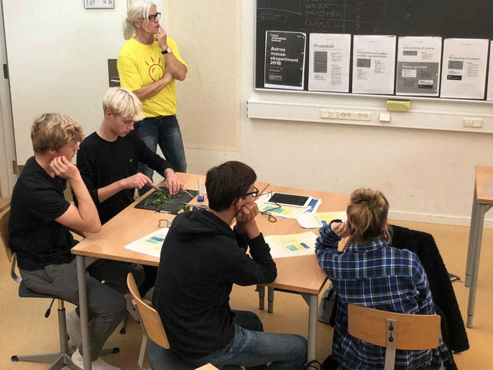 Skolelærer, Kirsten Noe og elever fra SPH.