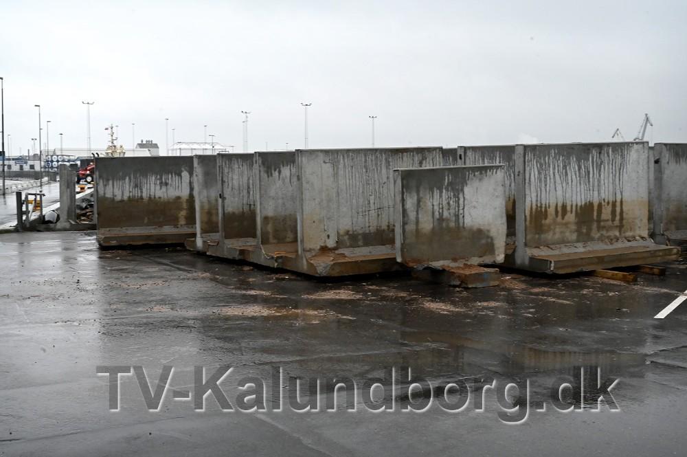 Betonelementerne er pillet op igen. Foto: Jens Nielsen