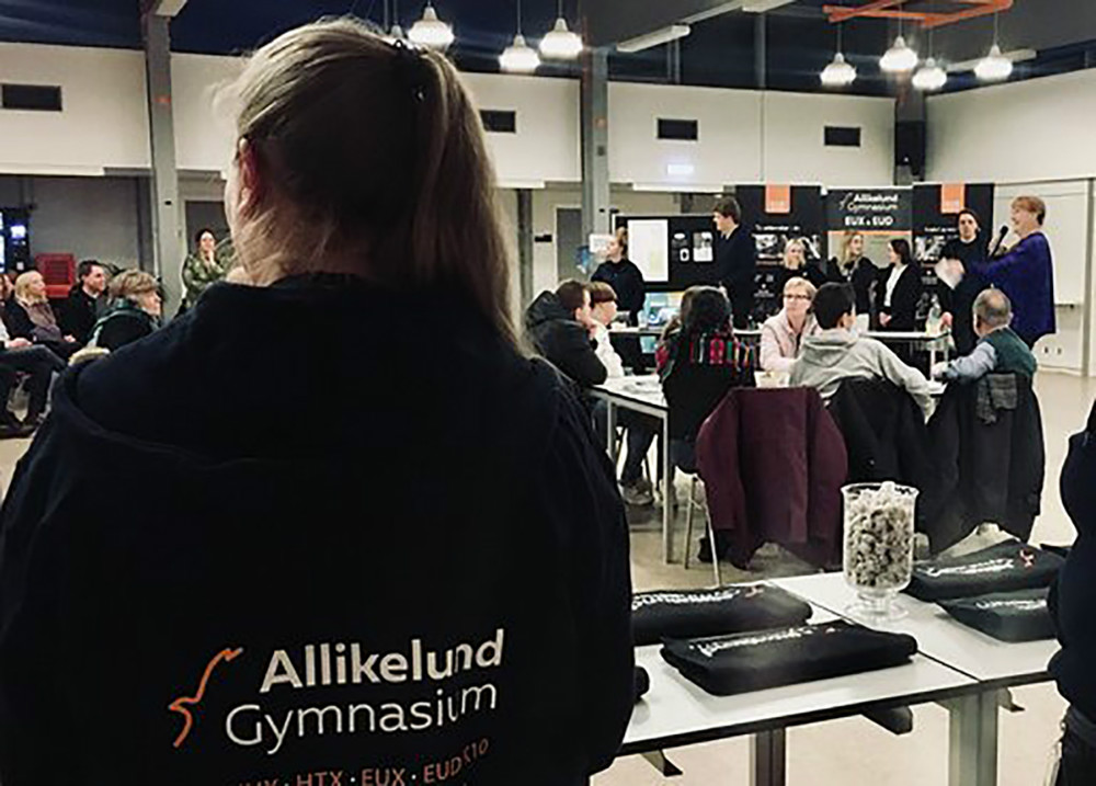 Åbent Hus på Allikelund Gymnasium. Privatfoto.