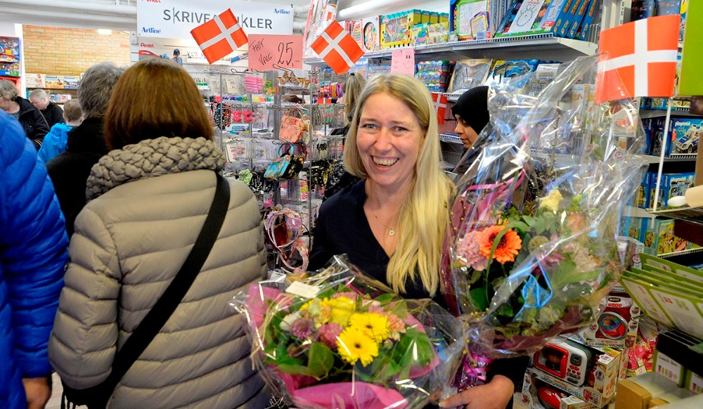 En meget glad Mette Thrane. Foto: Jens Nielsen