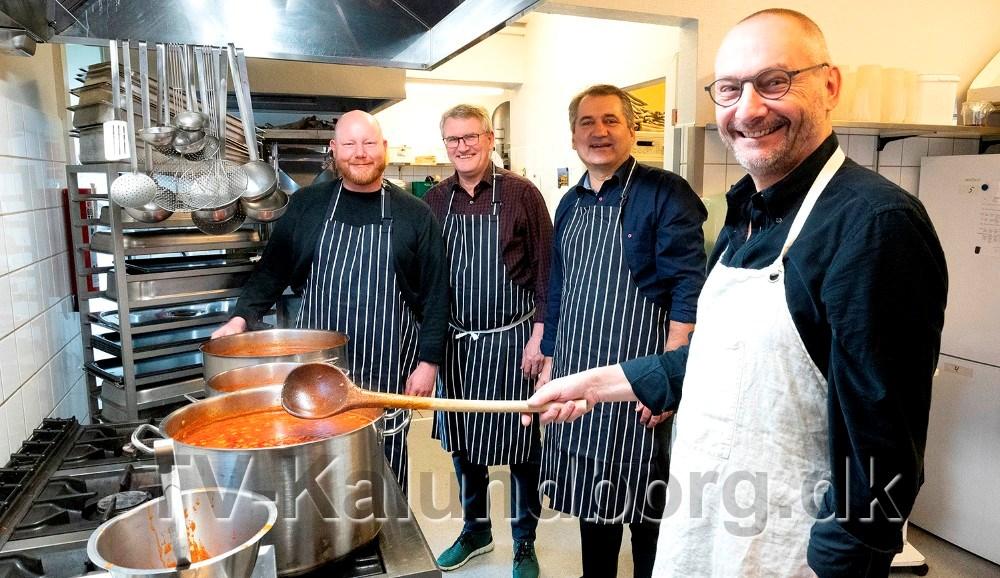 Fra venstre, Michael Gravesen, Søren Ole Sørensen, Michel van der Linden og Jan Lysgaard Thomsen. Foto: Jens Nielsen