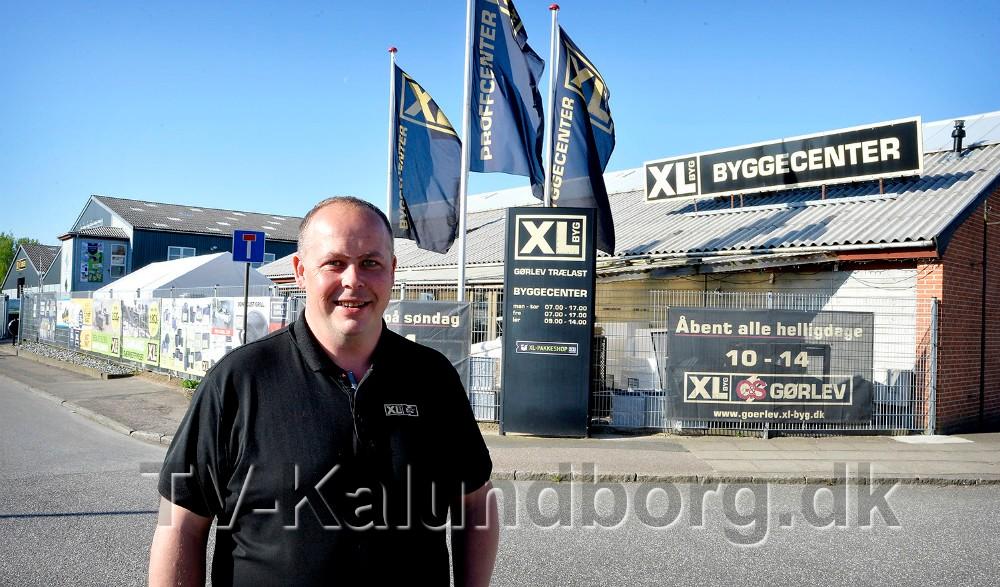 Afdelingschef Jesper Sørensen, XL Byg i Gørlev, er sammen med et øvrige personale, klar til at holde forårsfest for kunderne. Arkivfoto: Jens Nielsen