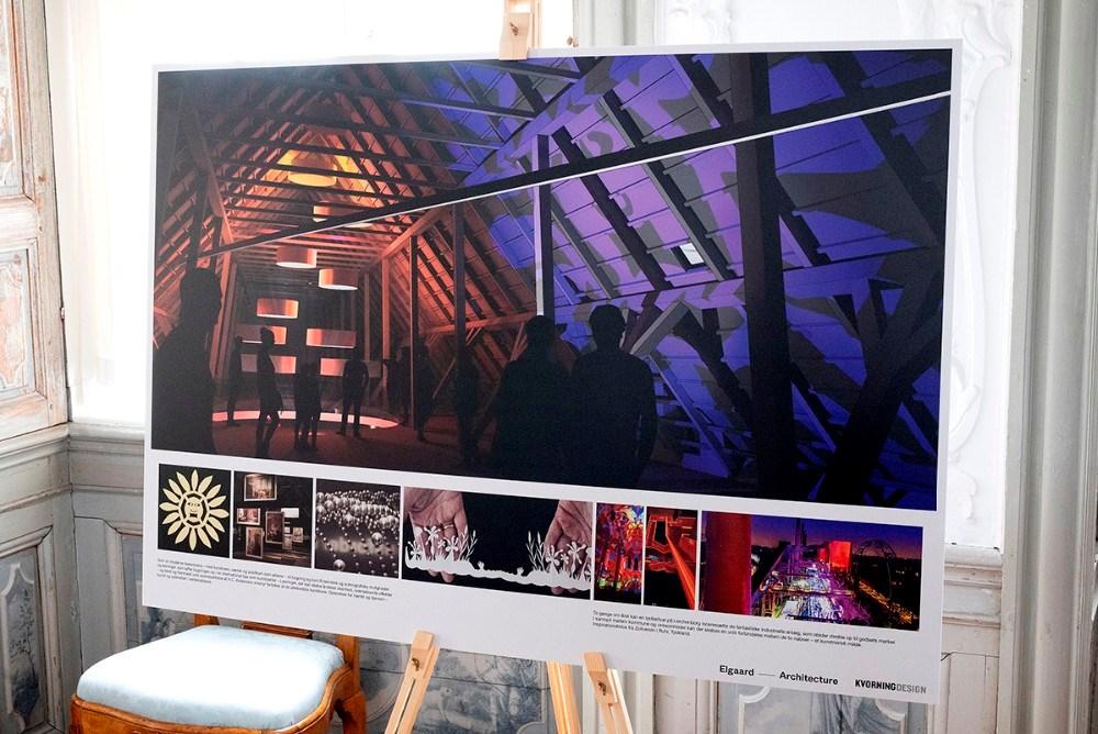 skitserne repræsenterer de allerførste tanker som oplæg, udført af ´Arkitektonisk vision v/ Elgaard Architecture og Udstillingskoncept v/ Kvorning Design. . Foto: Jens Nielsen