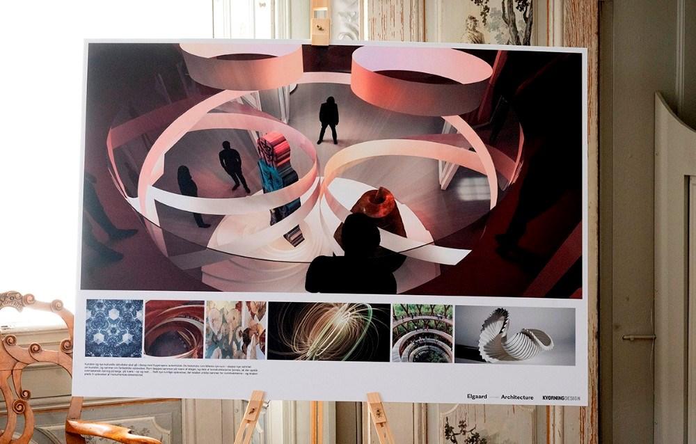 skitserne repræsenterer de allerførste tanker som oplæg, udført af ´Arkitektonisk vision v/ Elgaard Architecture og Udstillingskoncept v/ Kvorning Design.  Foto: Jens Nielsen