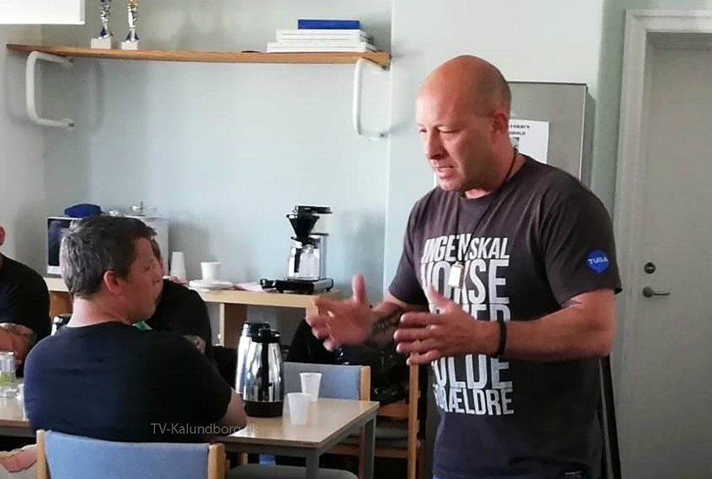 Frank Clifforth var torsdag forbi værestedet Væksthuset Liljen i Kalundborg, hvor han holdte foredrag.