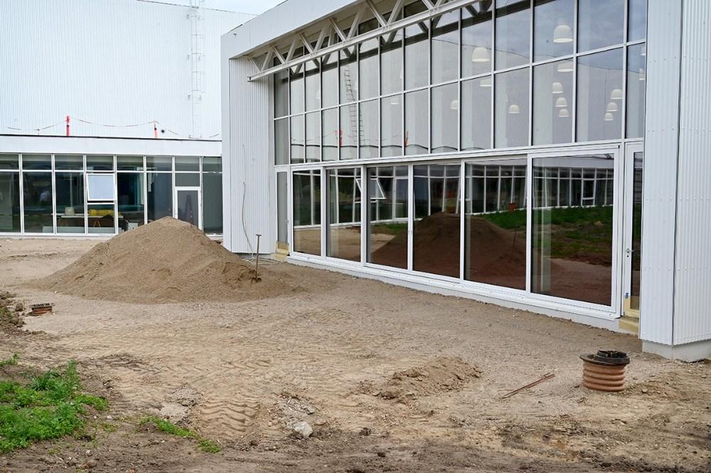 Vinduespartiet kan åbnes og give plads til fx udendørskoncerter. Foto: Jens Nielsen