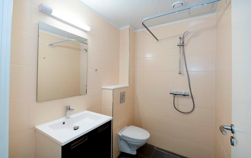 Alle værelserne har eget bad og toilet. Foto: Jens Nielsen