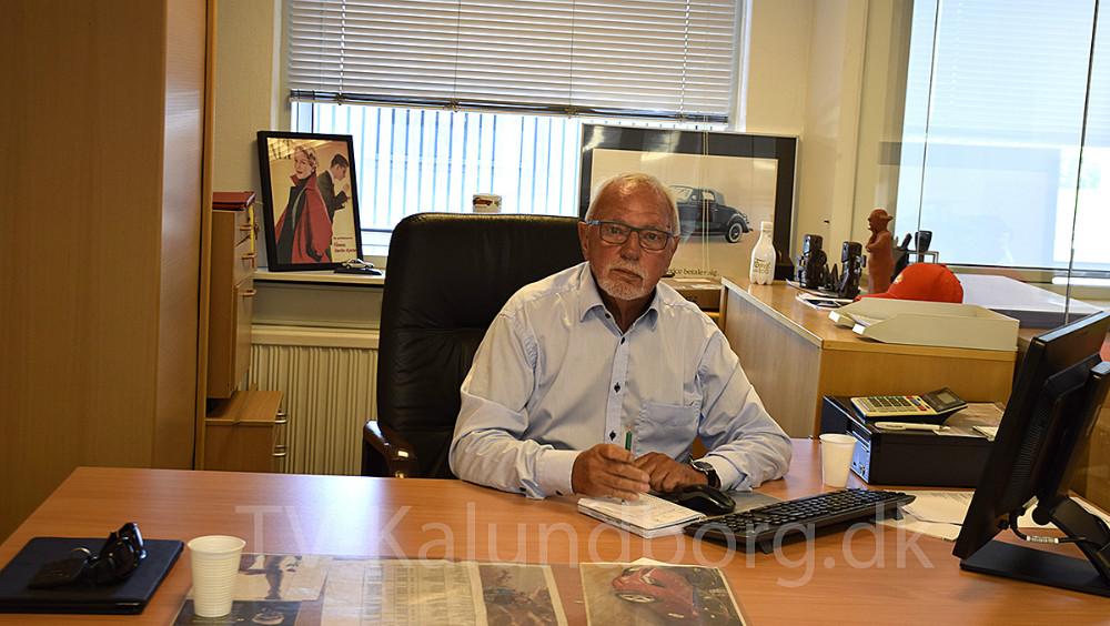 Hans Frederiksen har stadig et skrivebord hos Ford i Kalundborg, der i dag ejes af sønnen, Tom. Foto: Gitte Korsgaard.