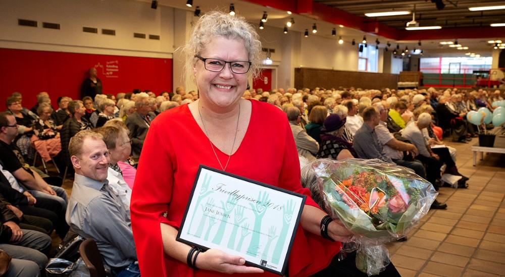 Modtager af Frivilliprisen 2018, Jane Jensen. Foto: Jens Nielsen