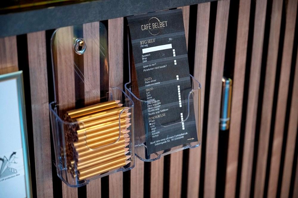 Der er styr på de mindste detaljer i den nye fafe. Foto: Jens Nielsen