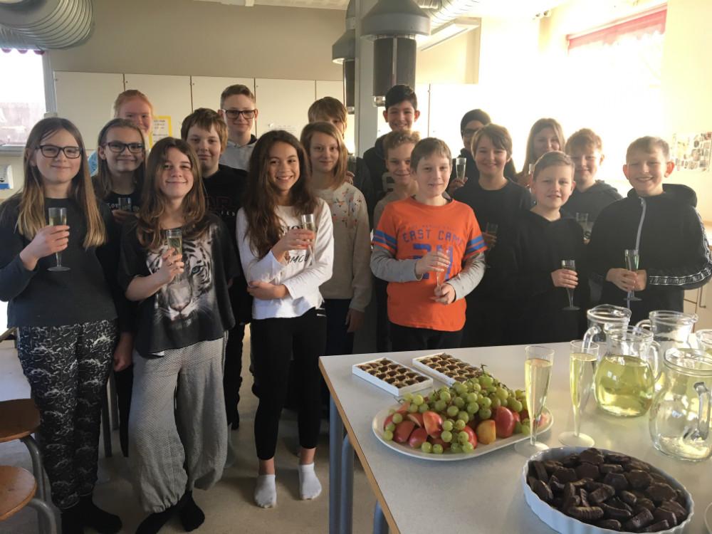 Det nye fund blev fejret med manér på Tømmerup Skole.