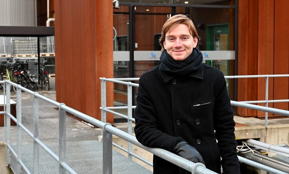 Mikkel Nørmark Jæger fra Slagelse har også valgt at studere i Kalundborg. Foto: Jens Nielsen