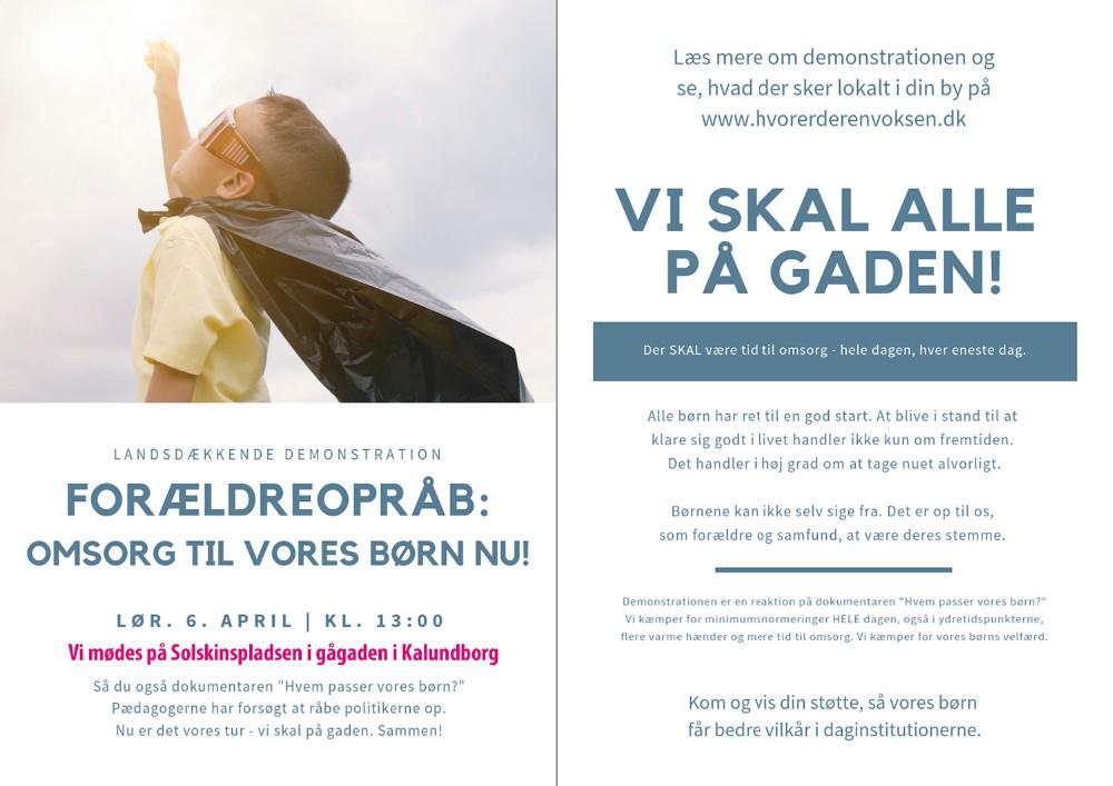 5158271d Der kan følges med på facebookgruppen 'Demonstration for  minimumsnormeringer i Kalundborg' samt på hjemmesiden hvorerderenvoksen.dk