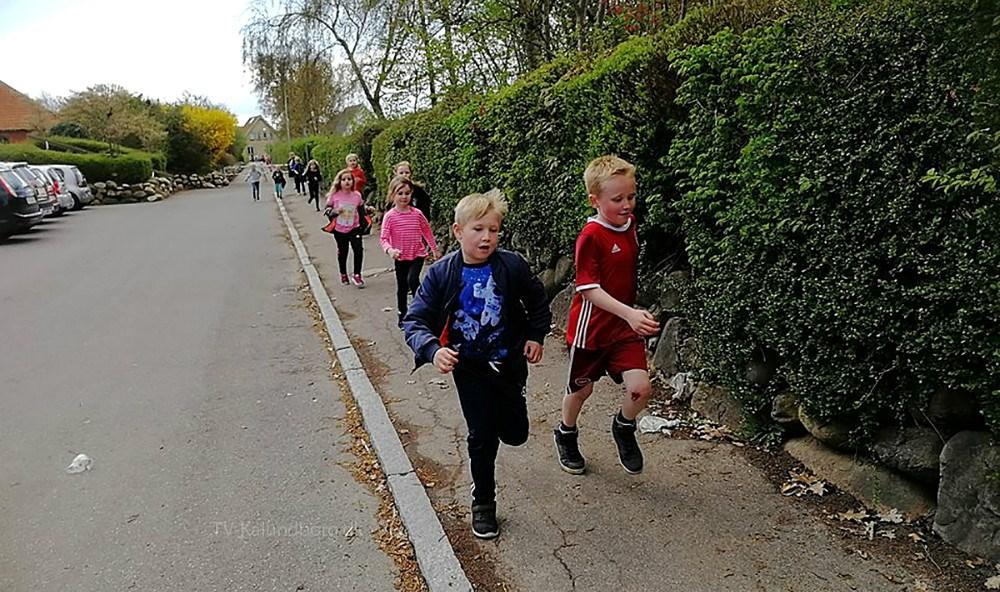 Den 16. maj løber eleverne på Høng Skole for de dårligst stillede børn i Danmark og i resten af verden, ligesom de i øvrigt også gjorde sidste år. Privatfoto.
