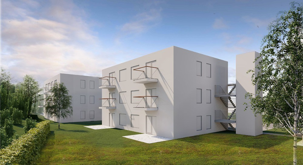 De 18 nye lejligheder skal bygges på den tomme grund ved siden af Solgården på Lundevej.