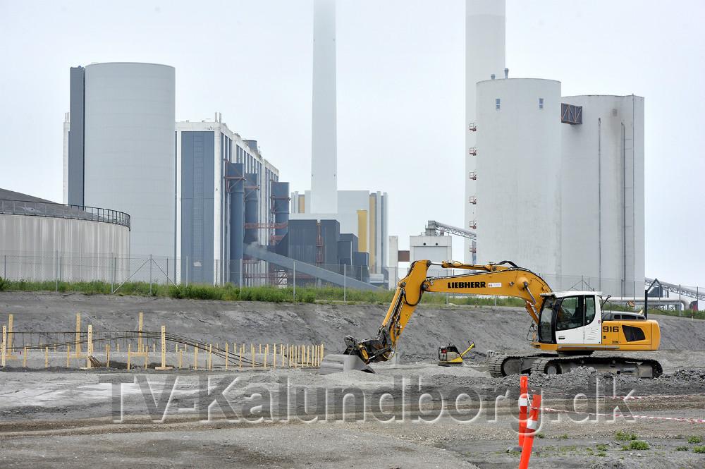 Det nye biogasanlæg bygges øst for Asnæsværket. Foto: Jens Nielsen