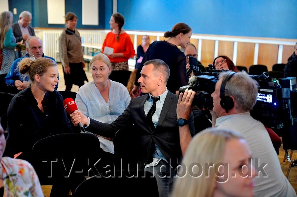 TV2 Nyhederne var mødt op til debatten. Foto: Jens Nielsen