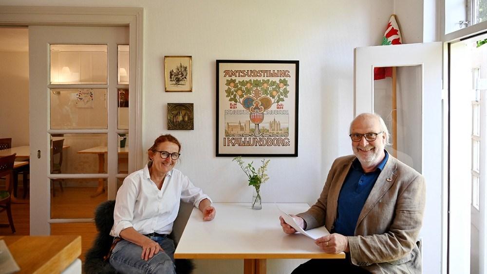 Ulrikka og Jens Worsøe står bag Bistro Bispegården i Kalundborg. Foto: Jens Nielsen