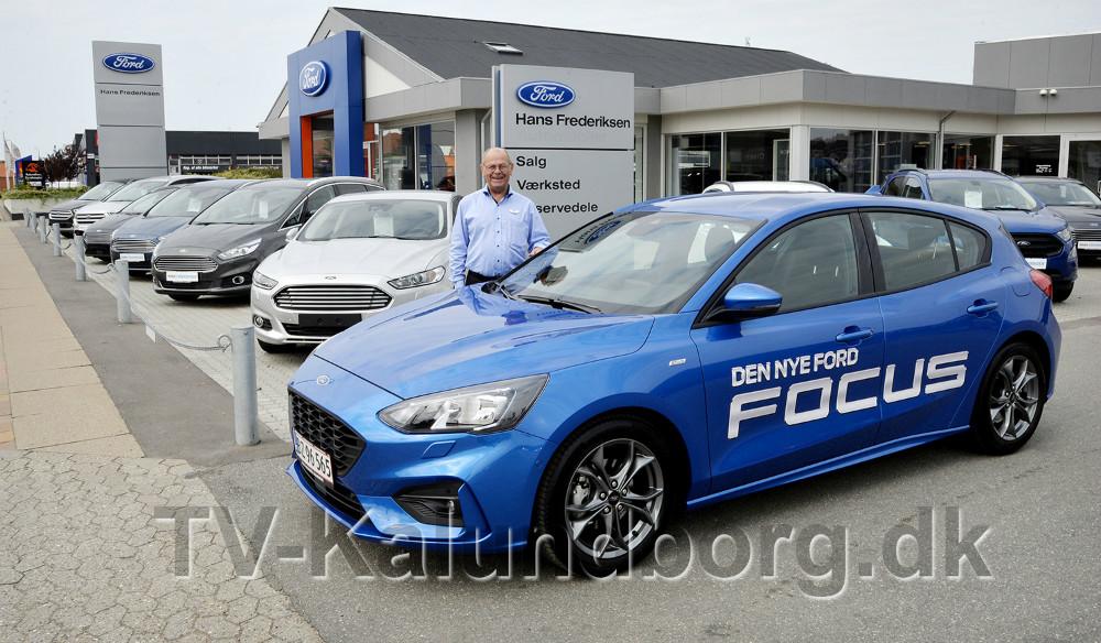 Bilrådgiver Torben Pedersen, Hans Frederiksen A/S, er klar til at vise den nye Ford Focus frem i den kommende weekend. Foto: Jens Nielsen