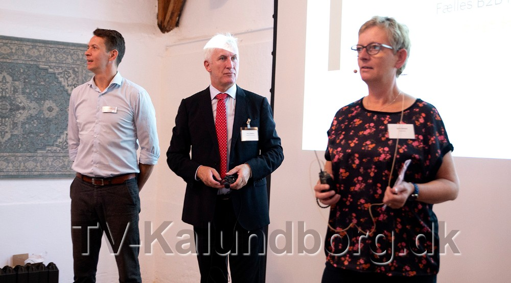 Fra venstre, Jens Lerager, Kalundborgegnens Erhvervsråd, Per B. Madsen, Slagelse Erhvervscenter og Laila Bregner Carlsen, Sorø Erhverv, bød velkommen. Foto: Jens Nielsen