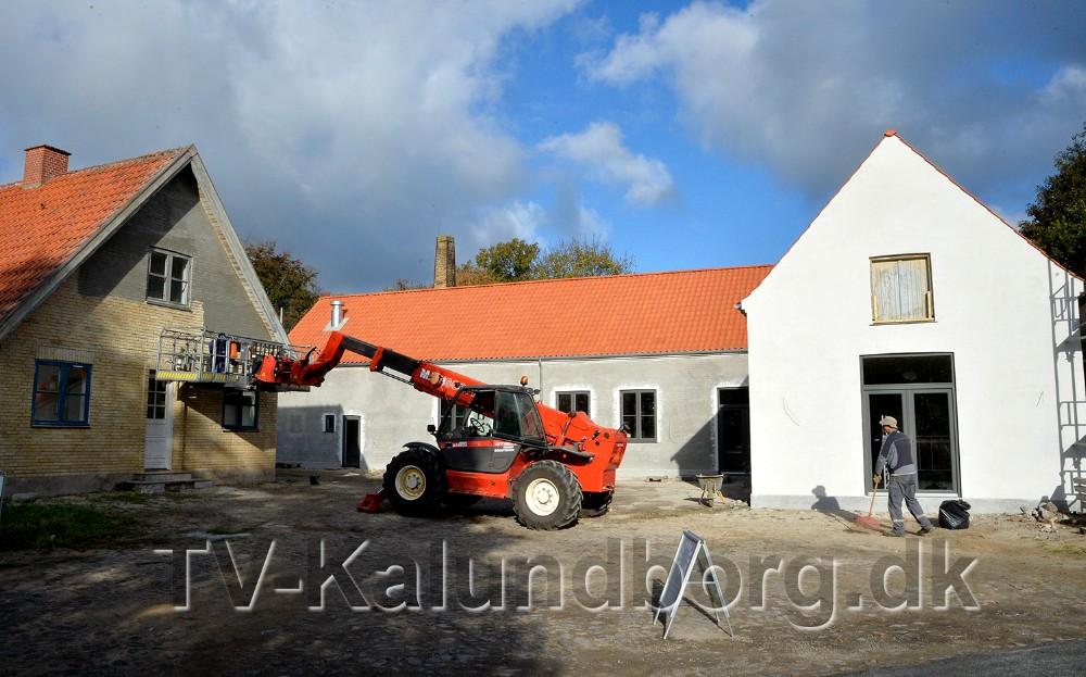 Håndværkerne er næsten færdige med det spændende projekt, som åbner 17. november. Foto: Jens Nielsen
