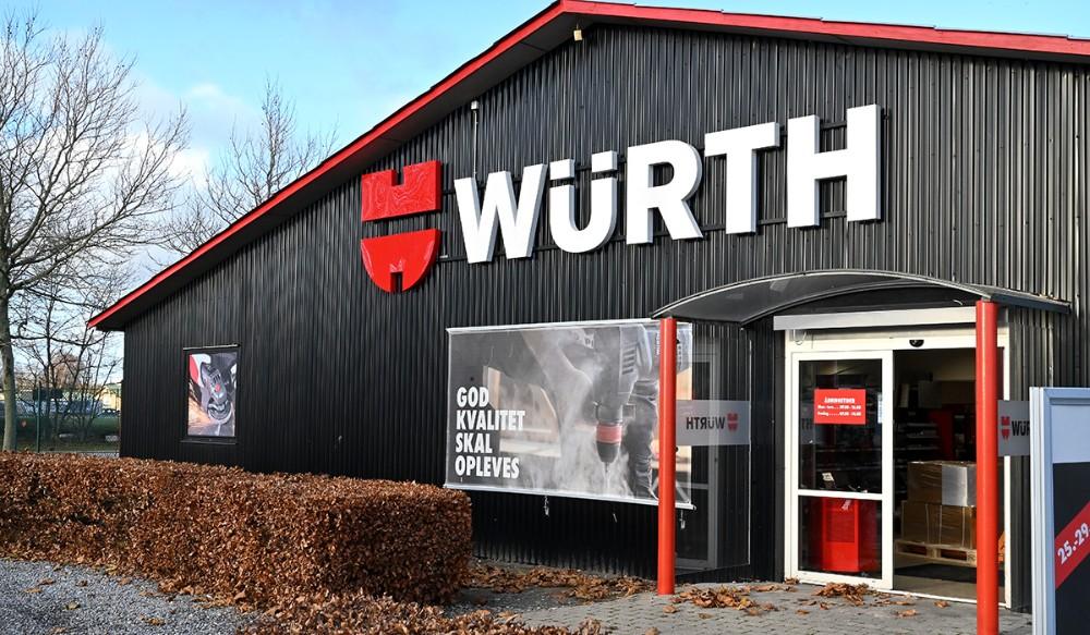 På onsdag inviterer Würth til 1-års fødselsdag. Foto: Jens Nielsen