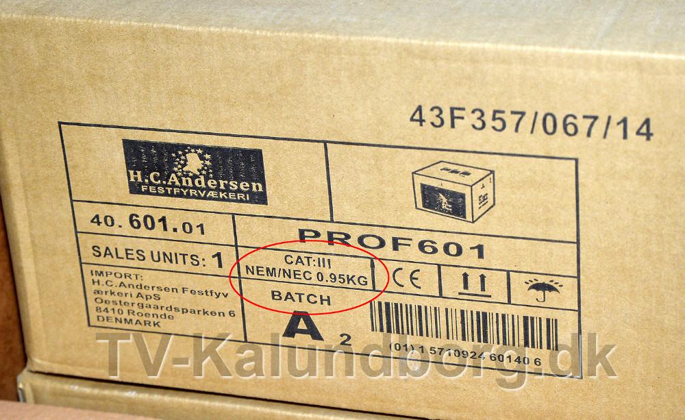 NEM vægten er angivet på kassen. Foto: Jens Nielsen