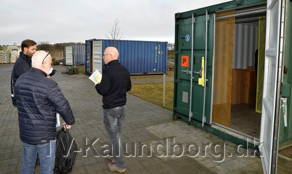 Hos Gardenshop var der tre containere som skulle kontrolleres, alt var i orden. Foto: Jens Nielsen