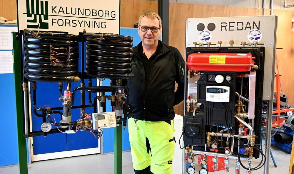 Anders Qvist fra Kalundborg Forsyning er klar til at hjælpe fjernvarme kunderne på Kalundborgmessen i den kommende weekend. Foto: Jens Nielsen